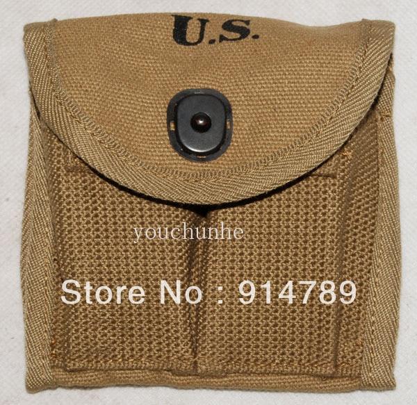 WWII US M1 CARBINE BUTTSTOCK TYPE CANVAS AMMUNITION MAGAZINE POUCH -32363