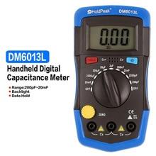 Dm6013l 멀티 미터 커패시터 미터 핸드 헬드 디지털 커패시터 커패시턴스 전자 테스터 진단 도구 + lcd 백라이트
