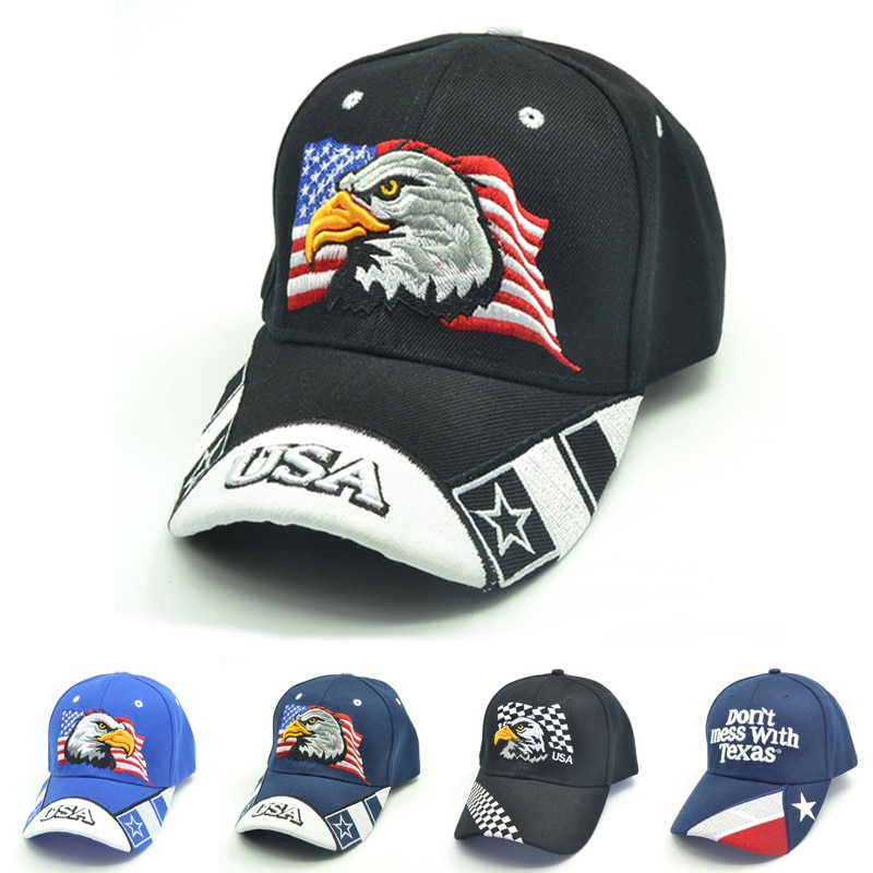 4 colors USA Flag Embroidery Baseball Cap Eagle Men Women Snapback Caps Casquette Hats Casual Gorras Dad bone