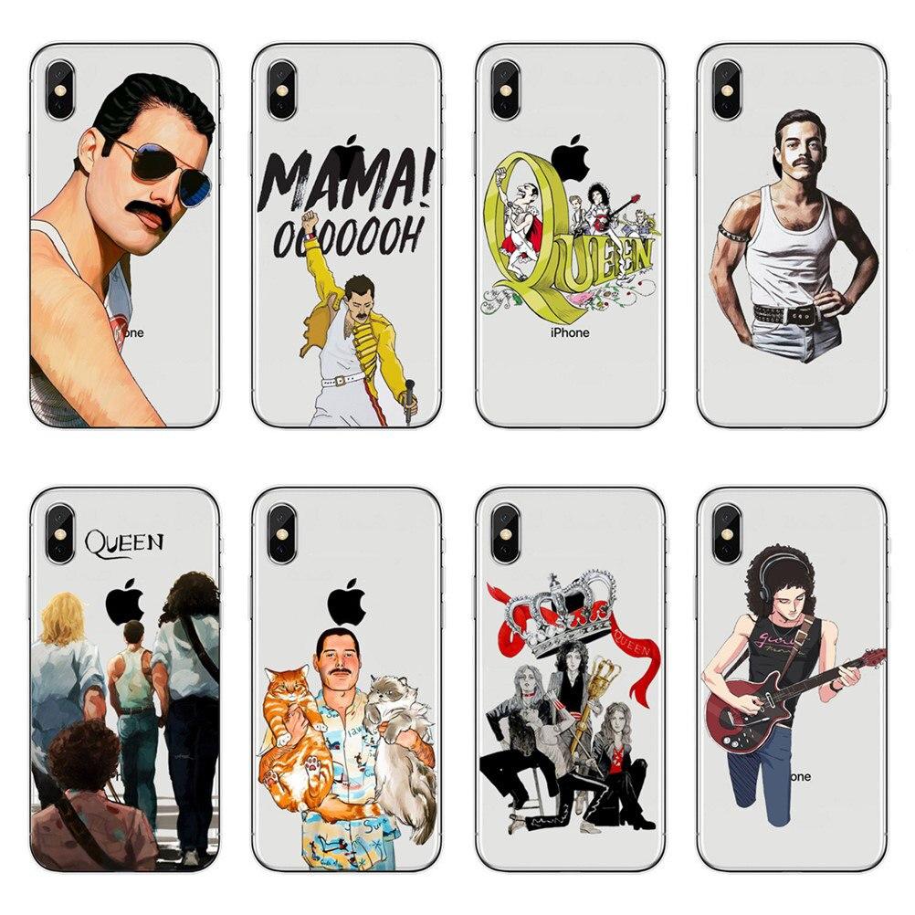 Reina Freddie Mercury banda teléfono celular casos x 10 7 para el iPhone 7 Plus 6 6S Plus 7 8 5S SE XR XS Max de silicona suave de la cubierta del TPU del caso