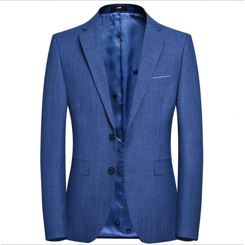 Blazer británico elegante Hombre chaqueta de traje de negocios casuales de dos...