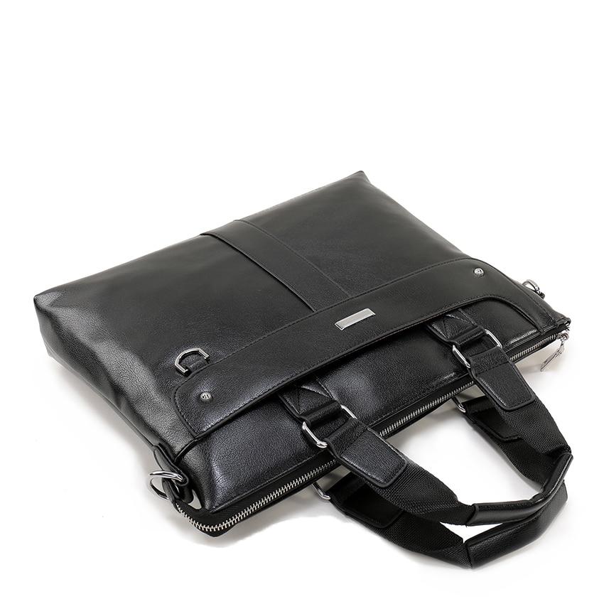 Moška aktovka poslovna ramenska torba usnjene messenger torbe torba - Aktovke - Fotografija 4