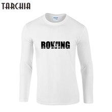 TARCHIA 2019 marca de manga de remo hombres o-cuello camiseta de moda tops tee fitness de 100% larga de algodón de talla grande camiseta divertida Homme