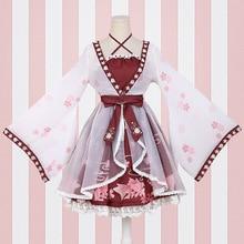 Lolita style chinois poisson rouge fille faux deux pièces robe impression une pièce robe Sakura fleur célébration
