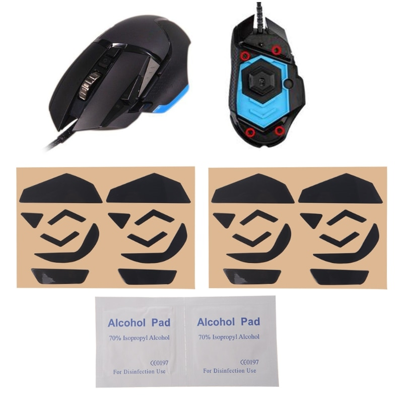 4 sets 0.6mm mouse Skates Pad Teflon Mouse Feet Mouse Skates Pad for Logitech G502 Laser Mouse