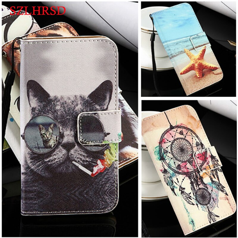 for 4Good People G410 Flip back phone case Lovely cartoon pu leather Case Archos Core 60S Ark Ukozi U5 Digma HIT Q401 3G