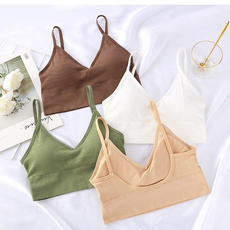 CHRLEISURE u-shaped belleza Back mujeres Bra Seamless Sexy Fitness ropa interior cómodo sujetador