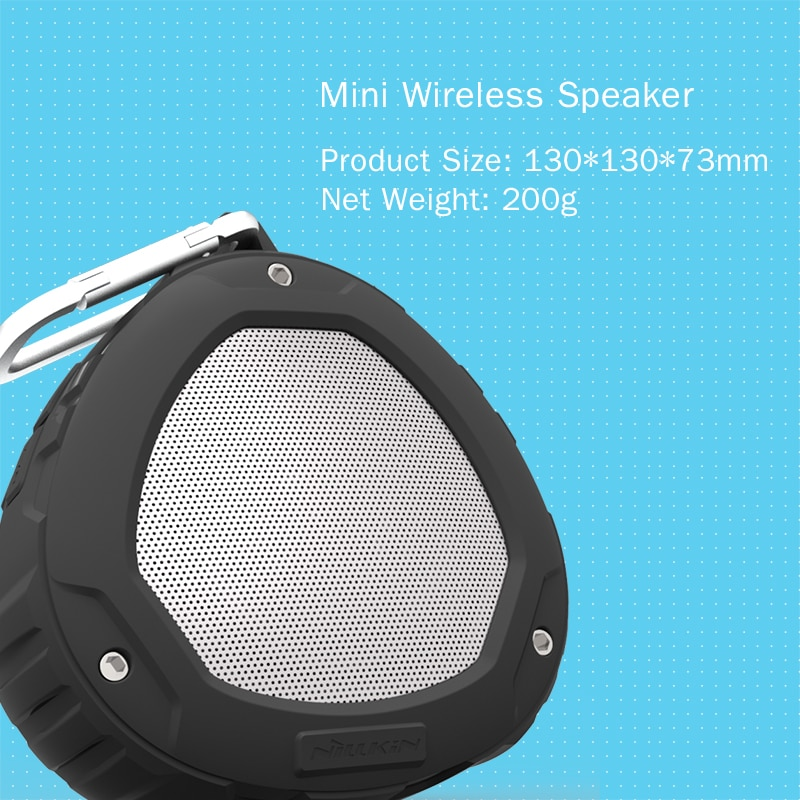 Mini Altavoz Bluetooth portátil para exteriores Nillkin 4,0 IPX4, caja de sonido estéreo impermeable, altavoz inalámbrico, bluetooth, deporte para xiaomi