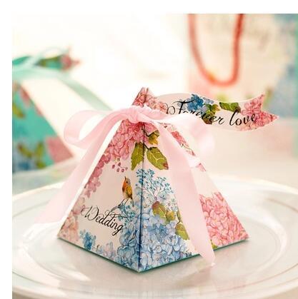 50 unids/lote PASAYIONE caja creativa de dulces de boda con cinta Kawaii Souvenirs regalos para invitados decoración de boda vajilla Dec