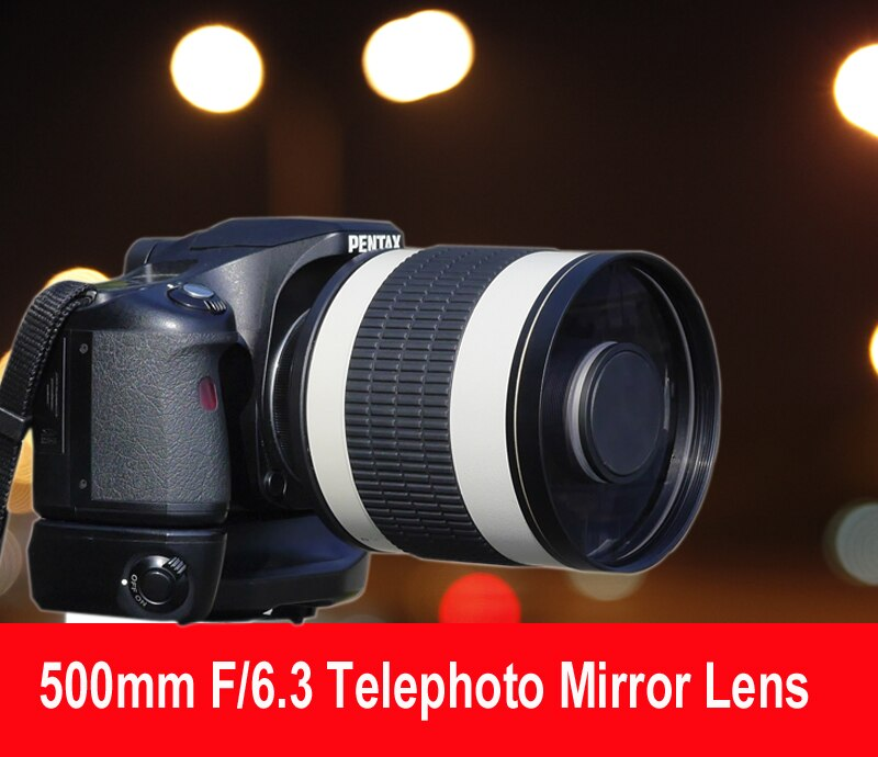 500mm F/6,3 teleobjetivo lentes de espejo + T2 anillo adaptador de montura para Canon Nikon Pentax Olympus Sony A7 A7RII A6300 DSLR
