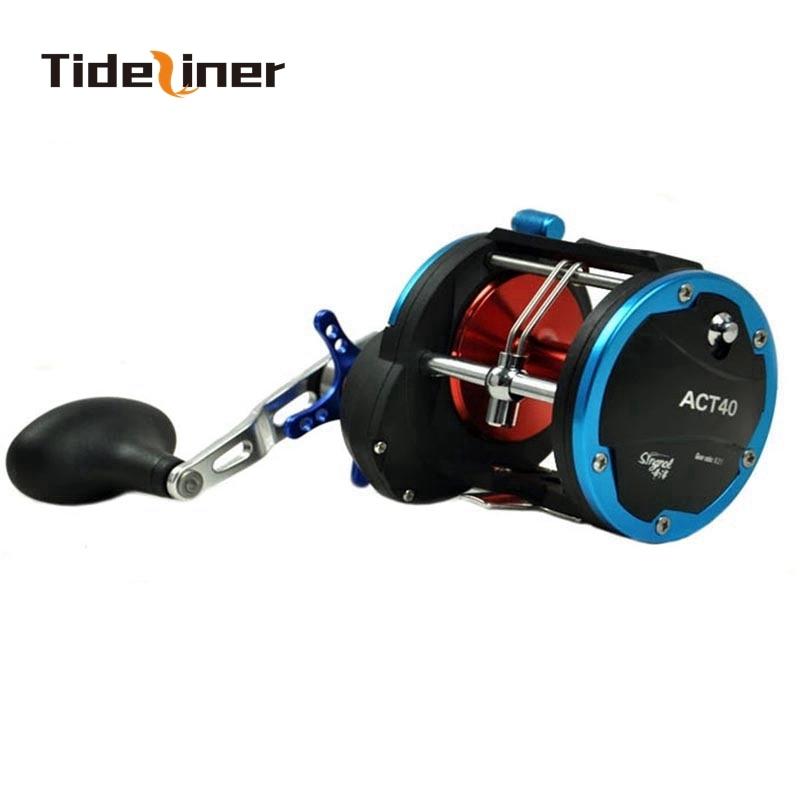 Tideliner 573g corrico jigging carretel 3bb + 1rb rolamento carretel de pesca de metal completo grande jogo carretel ato 20 30 40 relação 5.1 1