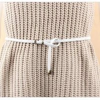 sale candy color pu knitted women belt pin buckle female thin fashion ladies braid belt for dress
