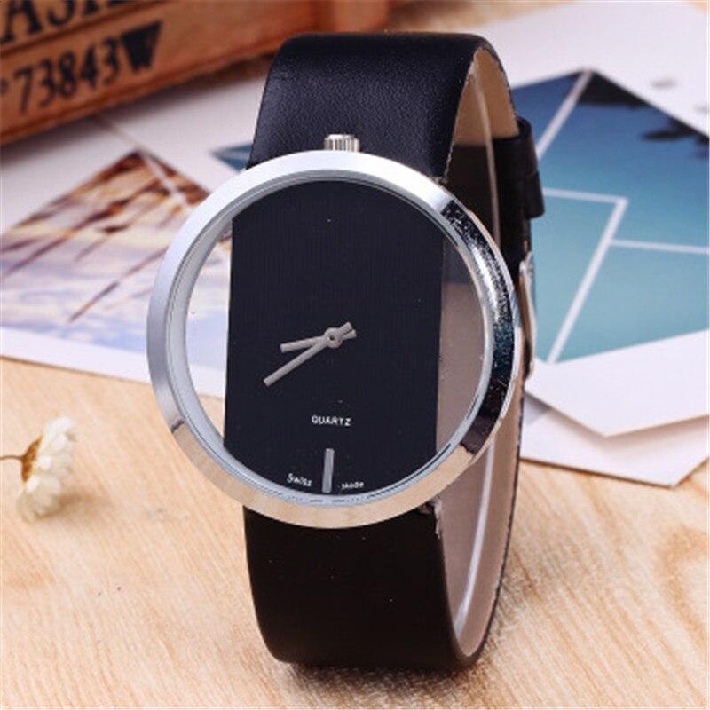 Reloj de pulsera para mujer de la mejor marca 2019, reloj de pulsera de cristal de cuero contraído, reloj de cuarzo para mujer con vestido