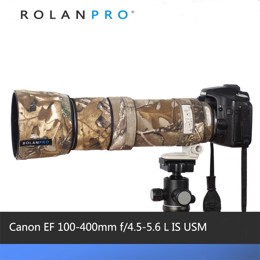 Линзы rolanpro, камуфляжное пальто, дождевик для Canon EF 100-400 мм f4.5-5,6 L IS USM, защитный чехол для объектива, защитный рукав