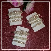 handmade hair clips full pearls hairclip girls bobby pinshairgriphairslide hot fashion hair accessories 3pcsset