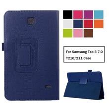 Coque pour Samsung Galaxy Tab 3 7.0 T210 T211 housse en cuir pour Samsung Tab3 7.0 SM-T210 SM-T211