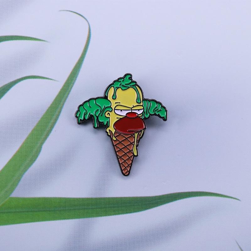 Humor The Simpsons Krusty the Clown Ice Cream Enamel Pin