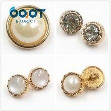 Manteau de couture fait à la main   Boutons en perle métallique, boutons de chemise, bricolage de très beaux boutons, 178122,10 pièces/lot