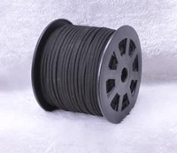 100yards roll black faux suede velvet leather cord3mm x 2mm diy jewelry bracelet necklace rope string accessories