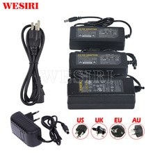 24V 1A 2A 3A 5A Adaptador de fuente de alimentación LED AC110-240V enchufe adaptador UK/US/EU/AU para tira de luces LED 5050 3528