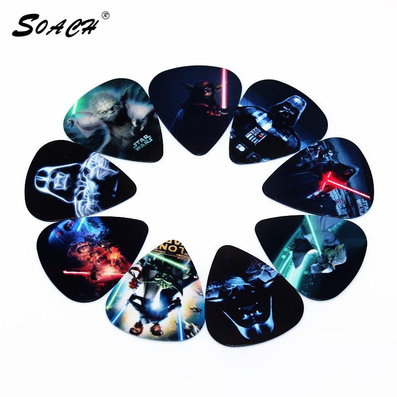 SOACH Hot 50 unids/lote 0,71mm de espesor correa de guitarra partes de guitarra patrón mixto calidad ukelele/púas guitarra Accesorios