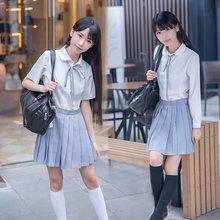 College Wind female sailor suit Japanese school uniforms JK uniforms class service long-sleeved pleated skirt student suit