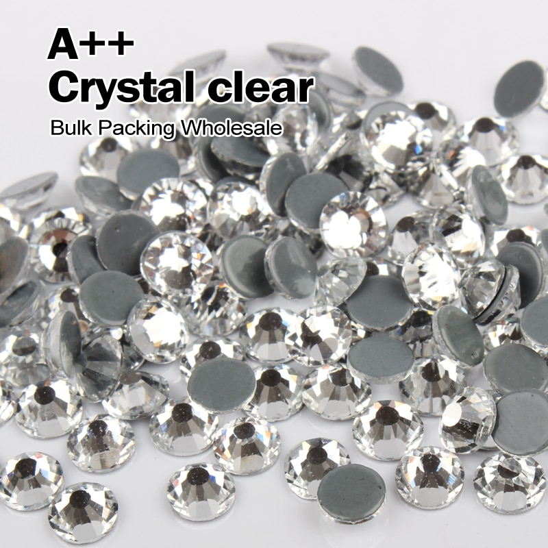 High quality Hotfix Rhinestones Similar SWA Crystal clear Rhinestone Bulk Packing Wholesale  SS6 SS8 SS10 SS12 SS16 SS20 SS30