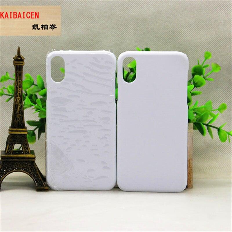 Para iPhone Xr XS Max 8 plus 4S 5S SE 5C 6 6S 7 7 Plus plástico brillante/mate en blanco sublimación de 3d caso cubierta 5 unids/lote