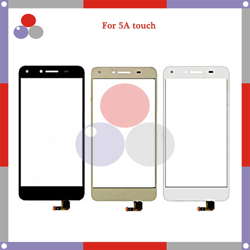 10 unids/lote de alta calidad para Huawei 5A Y5 II 2 Y5II CUN-L01 LYO-L21 Panel de pantalla táctil de digitalizador de vidrio exterior de la lente