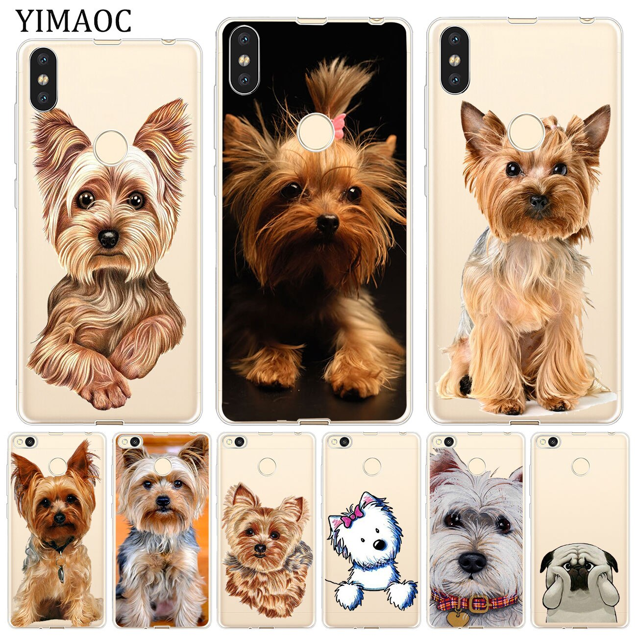 YIMAOC yorkshire terrier dog puppy Soft Case for Xiaomi Mi 9 9T CC9 CC9E A3 Pro 8 SE A2 Lite A1 MiX