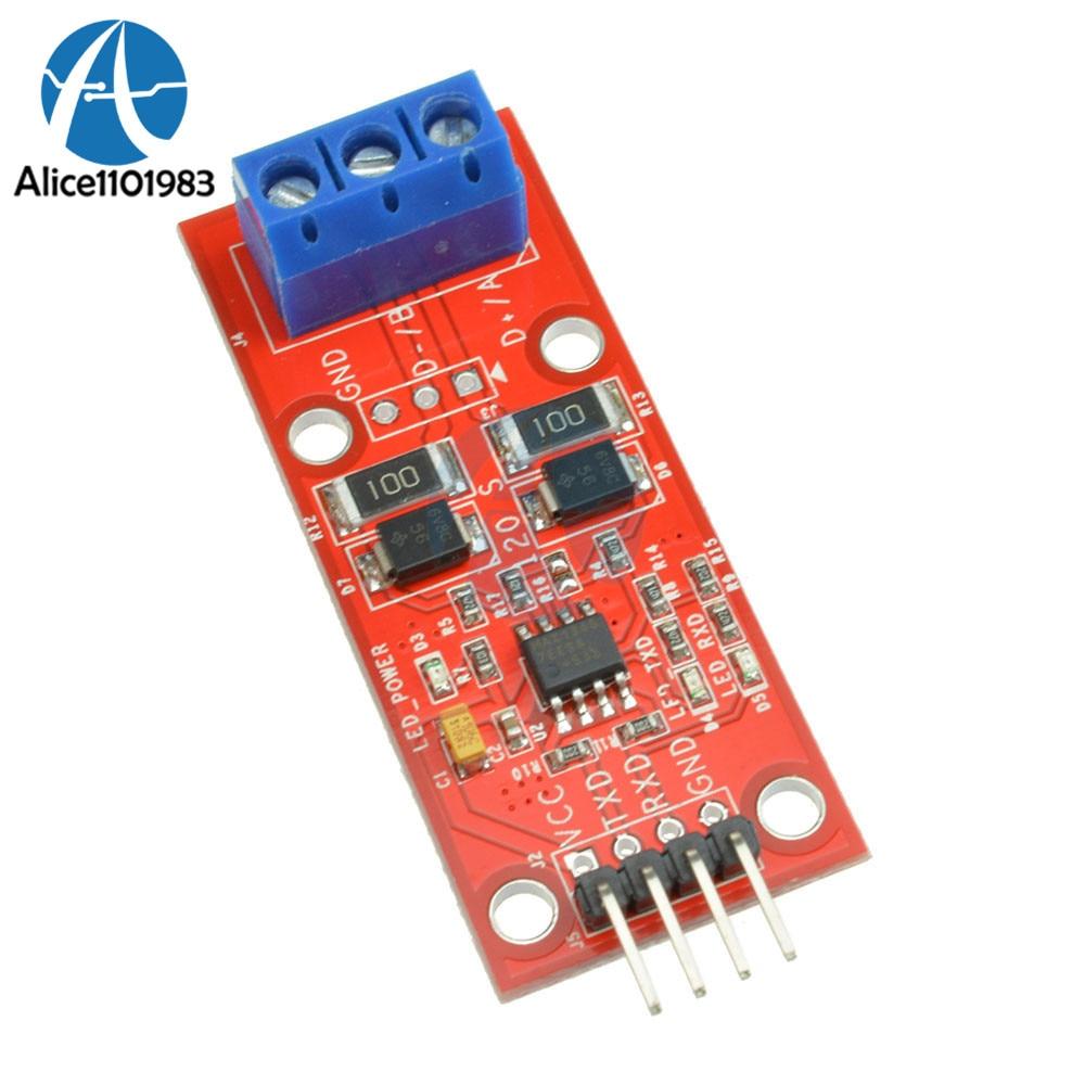 Ttl a 485 conversor de nível automático 500kbs do módulo 3.3v 5v uart do controle fluxo com luzes de sinal de rxd txd