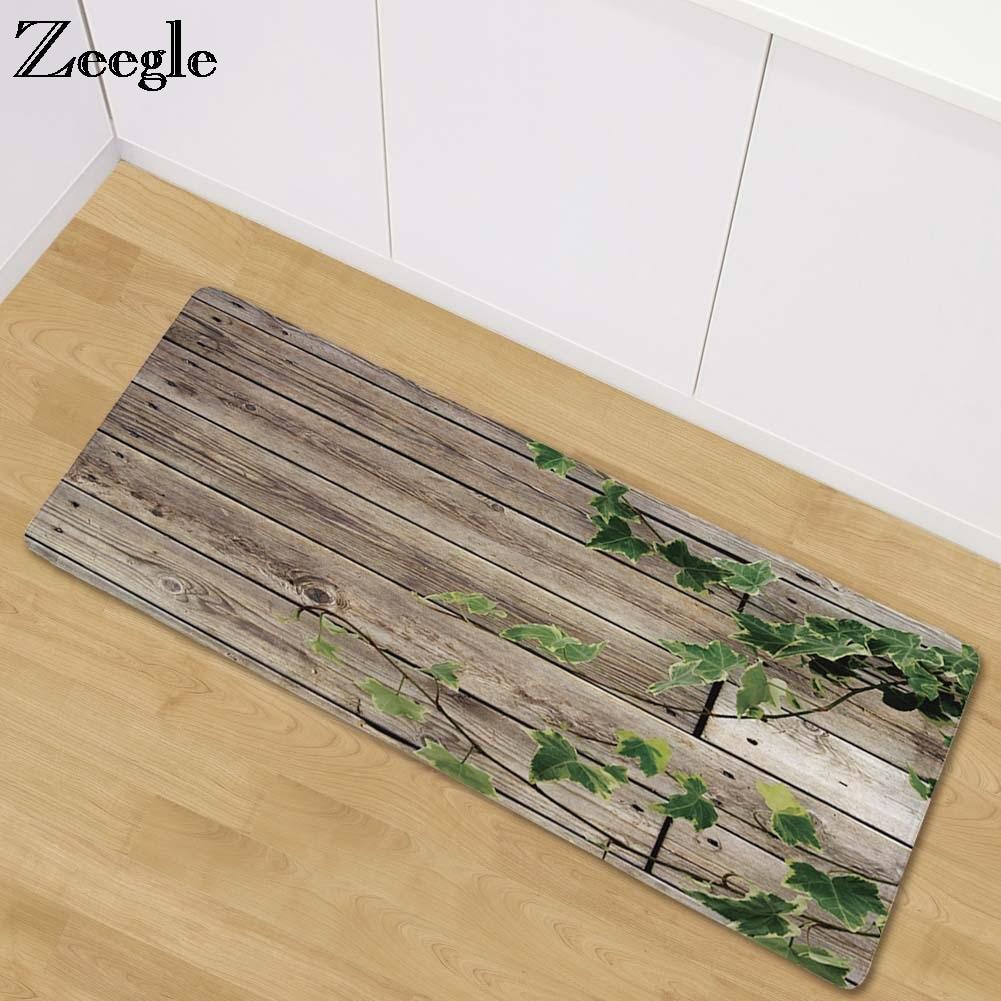Zeegle منطقة اللوحة الخشبية البساط لغرفة المعيشة غرفة نوم السجاد السرير الحصير المضادة للانزلاق طاولة القهوة الحصير المطبخ