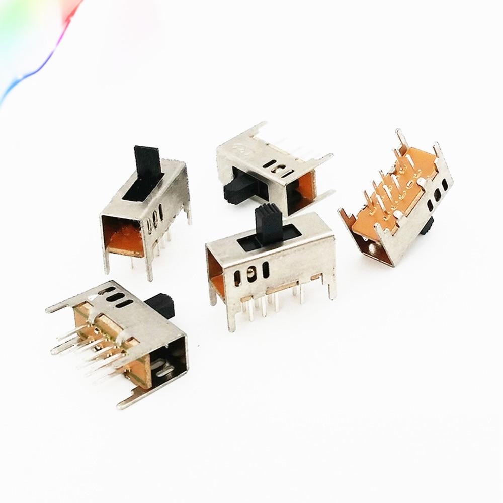 20 Uds Compras gratis SS-23D03-G5/G7 2P3T 3-posición 8 Pin Mini Horizontal interruptor 16mm x 12mm x 7mm