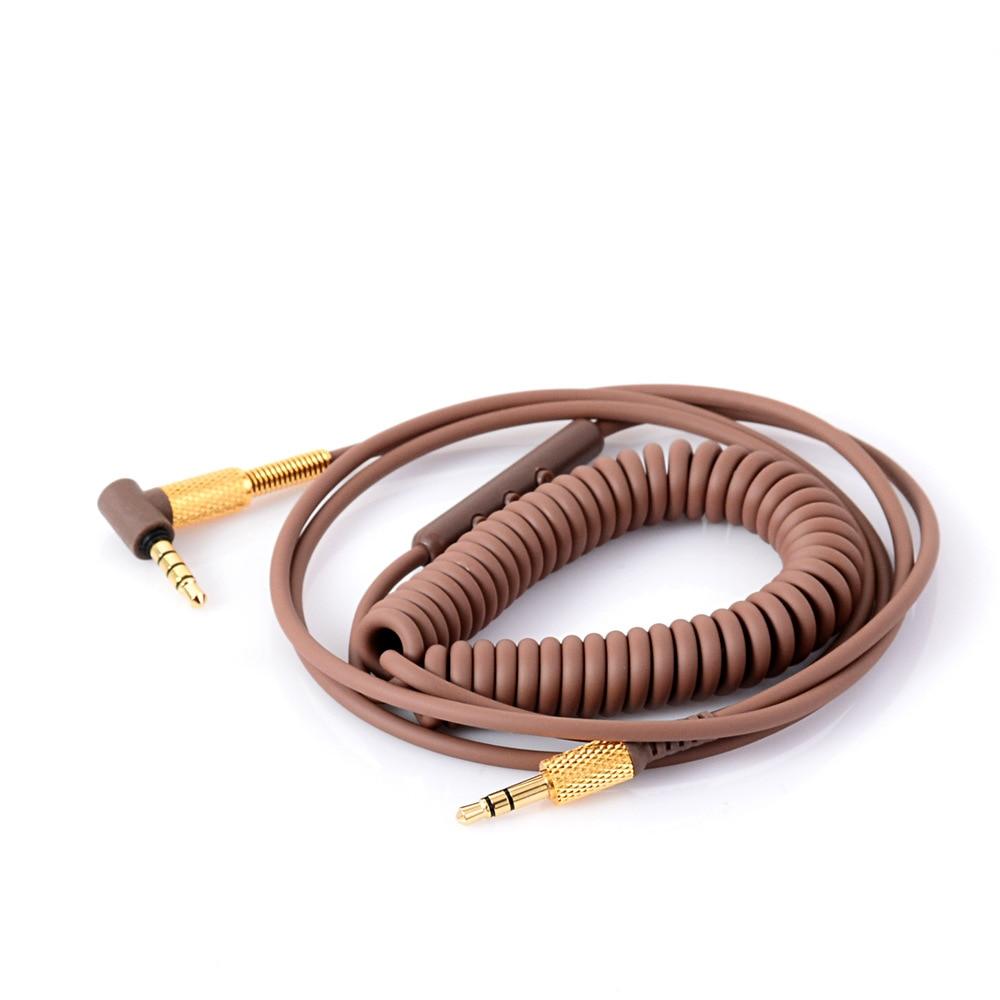LEMAX auricular Drive-by-wire color marrón Cable para Marshall principales 2 grandes II Monitor de Control de voz de Cable