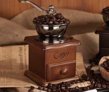 Moulin à café manuel en bois rectifieuse céramique noyau fait à la main Style rétro