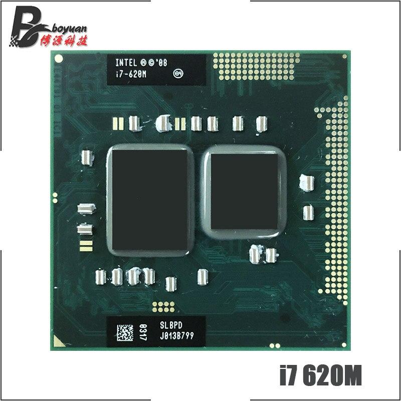 Processador intel, core i7-620M i7 620m slbtq slbpd 2.6 ghz processador cpu dual-core quad-thread 4w soquete g1/«35w