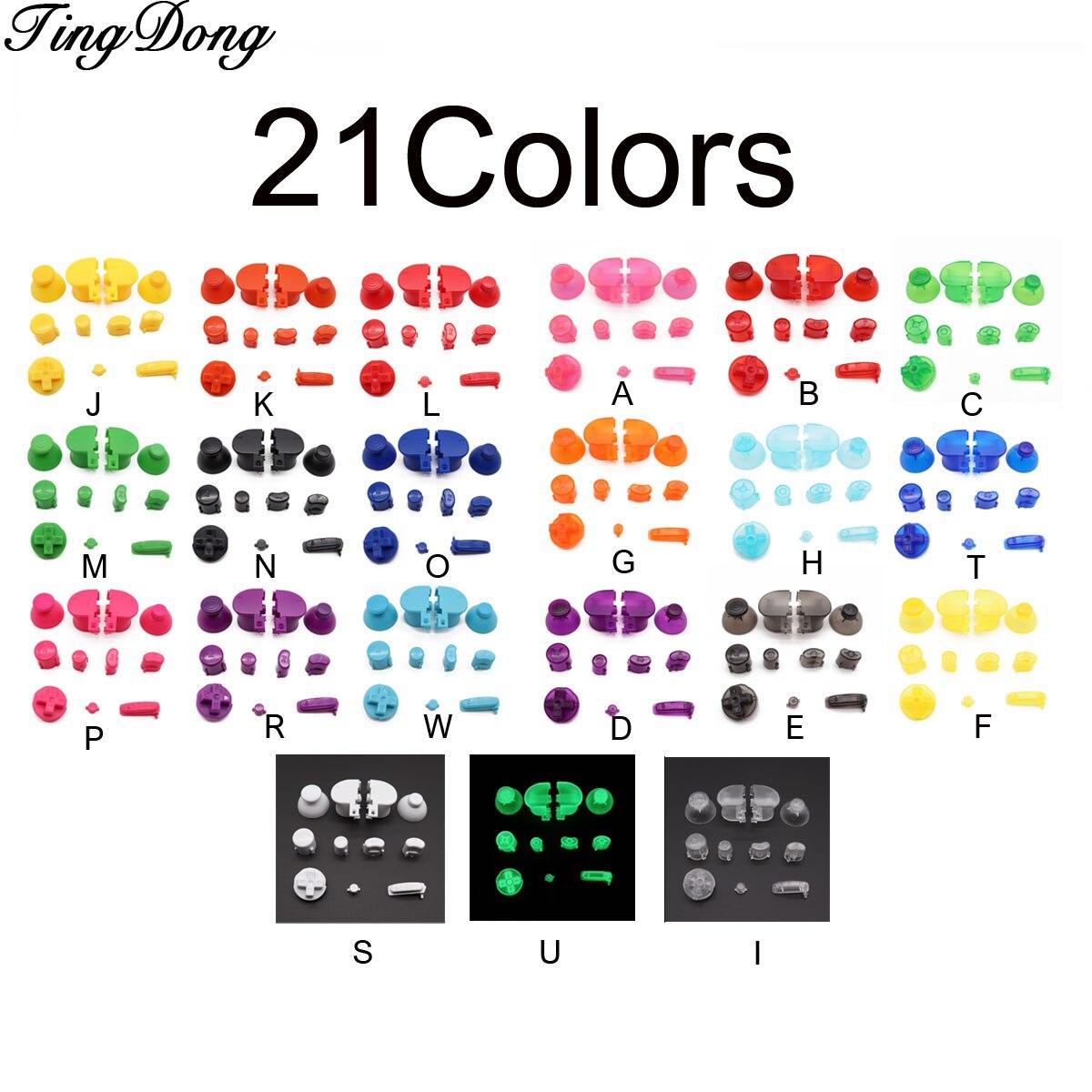 1 Juego de tapas de palanca de mando analógicas TingDong rojas Y negras, teclas Y botones X A B Z para controlador Nintendo Gamecube, mando análogo de joystick