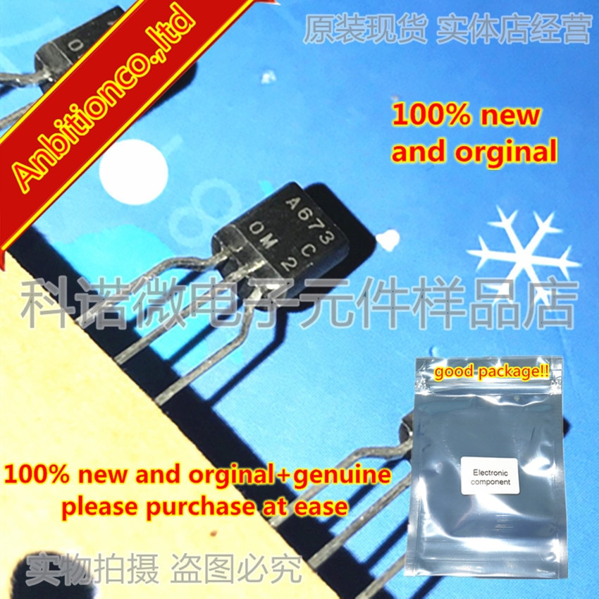 10pcs 100% new and orginal 2SA673 A673 TO-92 Silicon PNP Epitaxial in stock