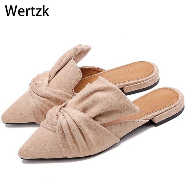 2019 verano de las mujeres de tacón alto puntiagudo dedo del pie sandalias señora mulas Sandalias Mujer zapatillas calzado negro Beige zapatos de mujer D017