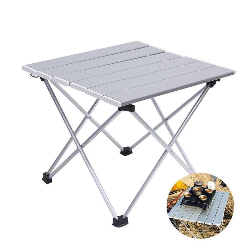 MYJ plegable mesa de estudio MESA para acampar al aire libre de aluminio mesas al aire libre plegable portátil mesa plegable campamento, pícnic mochila