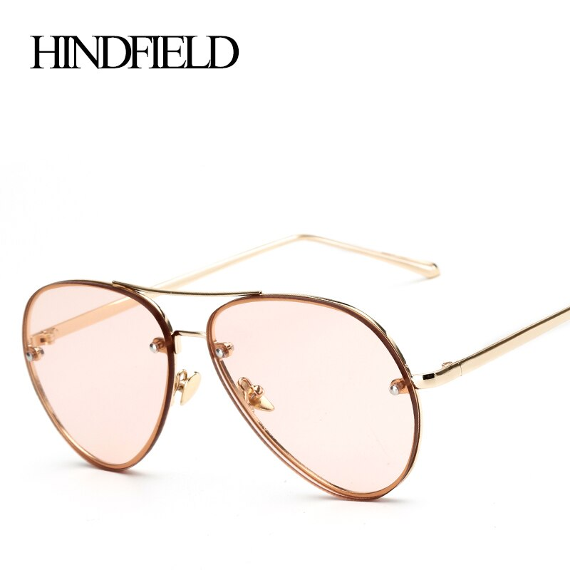 LONSY  Metal Sport Sunglasses Women Fashion Sun Glasses Female Vintage Retro Classic Brand Designer