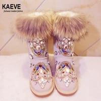 hot sale pink fur keep warm cotton botte plate winter stivali martens snow brand diamond fashion italy boots women real pics