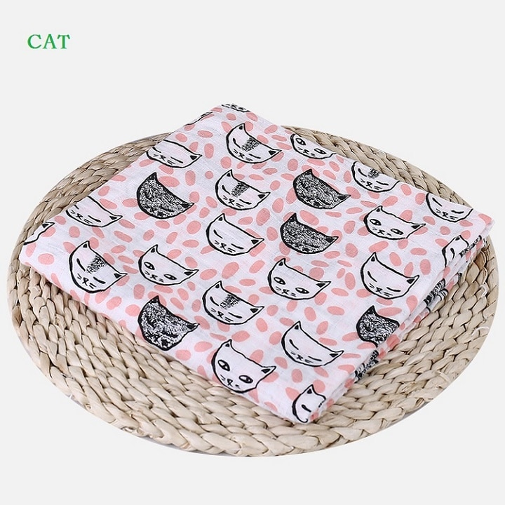 Хлопковое детское одеяло с фламинго, мягкое многофункциональное муслиновое детское одеяло, постельное белье для младенцев, Пеленальное по...
