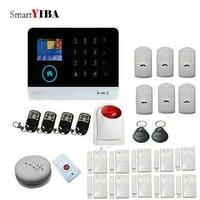 SmartYIBA systeme dalarme feu sans fil   WiFi GSM  pour la maison  applications Android iOS  avec sirene sans fil  bouton durgence  anti-panique