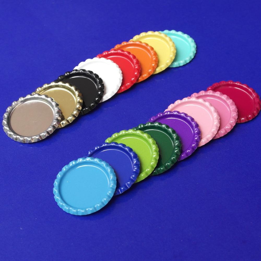 Hot! 12 Farben 10000 teile/los Zwei-Side Farbige Abgeflachte flaschenverschlüsse Metall Haubekappe Bottlecap Für Handwerk & Schmuck Ohne loch
