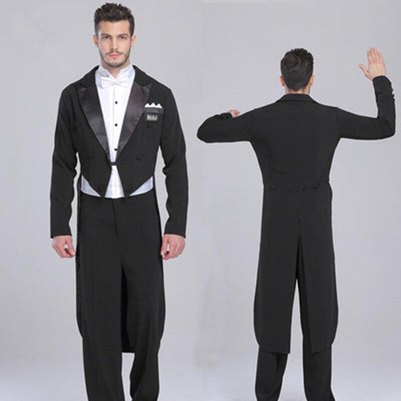 New men's tuxedo swimsuit dress smoking masculino standard dance men suit black two pieces mens wedding suits jacket+pants