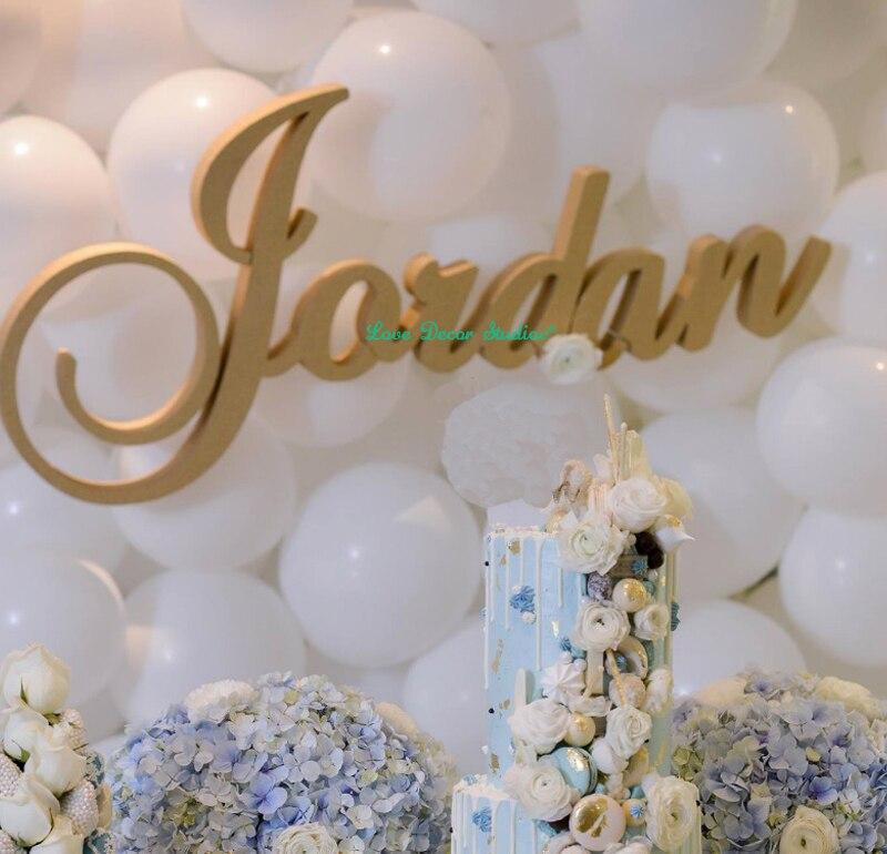 O Envio gratuito de 1 Conjunto Nome Personalizar Mesa De Madeira Letras letras Decoração de Casamento Mr & Mrs sinal