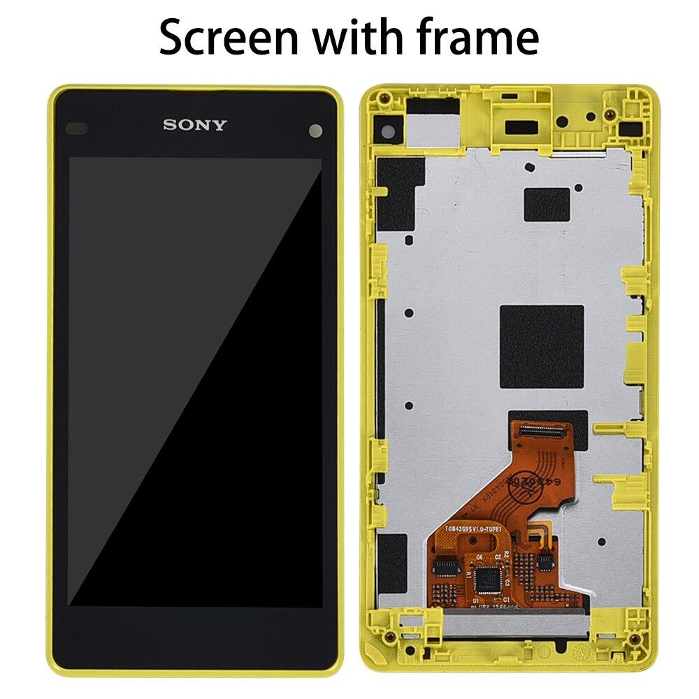 Оригинальный 4,3 ЖК-дисплей для SONY Xperia Z1 Компактный дисплей сенсорный экран дигитайзер для SONY Xperia Z1 Компактный дисплей D5503 M51w