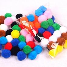 40/100/200Pcs DIY Toys Puzzle Kids Educational Toys for Children Mixed Color Pompom Fluffy Plush IQ Training Puzzles Assembling