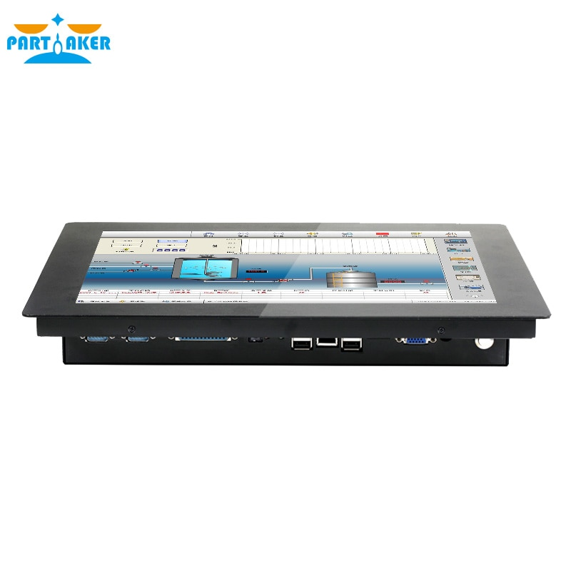 Partaker Z14 15 Inch Made-In-China 5 Wire Resistive Touch Screen Intel i5 4200U 2mm Thin Industrial Embedded PC 4G RAM 64G SSD enlarge